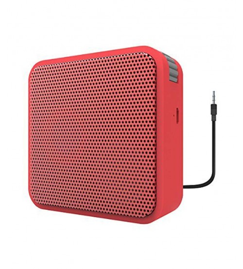 Portronics POR-511 Cubix II Wired Portable Speaker, Red